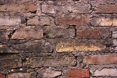 Bakgrund av en gammal textur för tegelstenvägg Royaltyfri Fotografi