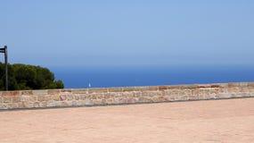 Bakgrund av en havskust Fotografering för Bildbyråer