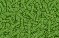 Bakgrund av en variation av gröna pilar Royaltyfri Fotografi