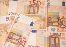 Bakgrund av eurosedlar europeiska pengar Royaltyfri Bild