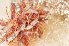 Bakgrund av f?rgrik texturbokeh f?r suddighet f?r festival och nytt ?r Lek av f?rg Abstrakt jul som blänker bakgrunden closeup royaltyfri foto