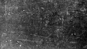Bakgrund av filmen på svart textur med vita skrapor royaltyfri bild