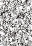 Bakgrund av fjärilar som drar för meditation stock illustrationer