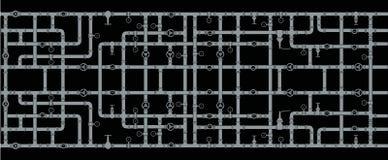 Bakgrund av flätade samman vattenrör Beståndsdelar av sanitära ware seamless vektor illustrationer
