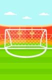 Bakgrund av fotbollstadion Arkivbild