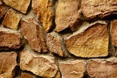 Bakgrund av fotoet för stenväggtextur Arkivfoto