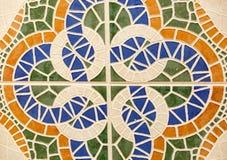 Bakgrund av fyra rektanglar som bildas av tegelplattor Arkivbild