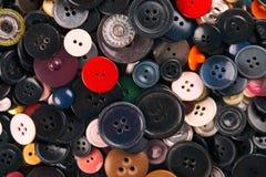 Bakgrund av gamla knappar av knappar Royaltyfria Foton