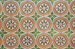 Bakgrund av gamla tegelplattor i Sevilla, Spanien Arkivbild