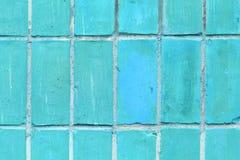 Bakgrund av gammal blå textur för modell för tegelstenvägg Arkivbilder