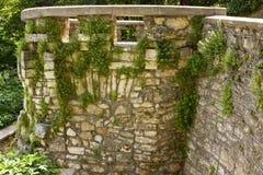 Bakgrund av gammal textur för stenvägg Fotografering för Bildbyråer