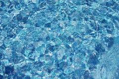 Bakgrund av genomskinligt blått vatten Royaltyfri Fotografi