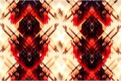 Bakgrund av geometriska former färgrik mosaikmodell Vit bakgrund Ormhud stock illustrationer
