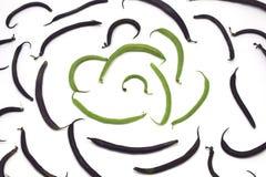 Bakgrund av gröna franska bönor royaltyfria bilder
