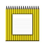 Bakgrund av gula blyertspennor Arkivbild