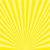 Bakgrund av gula strålar stock illustrationer