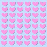 Bakgrund av hjärtor i illustrationer för valentindagvektor stock illustrationer