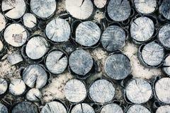 Bakgrund av huggit av trä Arkivfoton