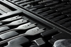Bakgrund av insidan av en toolbox Royaltyfri Foto