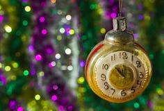 Bakgrund av julljus Royaltyfria Foton