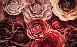 Bakgrund av konstgjorda blommor Royaltyfri Foto