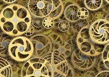Bakgrund av kugghjul och kuggar Mekanismbegrepp royaltyfri illustrationer