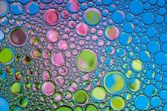 Bakgrund av kulöra bubblor Naturlig bakgrund arkivfoto