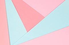Bakgrund av kulöra pappers- geometriska former Royaltyfri Foto