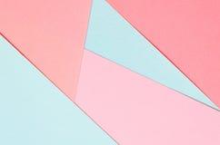 Bakgrund av kulöra pappers- geometriska former Royaltyfri Fotografi