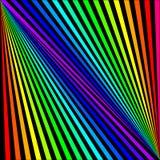 Bakgrund av kulöra strålar diagonalt på en svart stock illustrationer