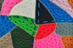 Bakgrund av läderstyckena Royaltyfri Foto