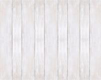 Bakgrund av målade vita träbräden Arkivfoton