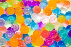 Bakgrund av mång--färgade bollar Royaltyfria Bilder