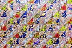 Bakgrund av mångfärgad patchworkkalikå Royaltyfria Bilder