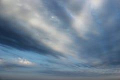 Bakgrund av molnen Royaltyfria Foton