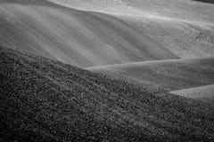 Bakgrund av Moravian fält Arkivbild
