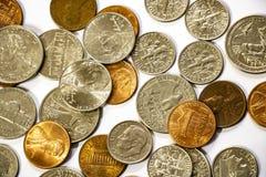 Bakgrund av mynt Många myntar Valuta bakgrund royaltyfri foto