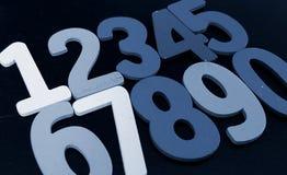 Bakgrund av nummer från noll till nio bakgrundsillustrationen numrerar vektorn Nummertextur Fotografering för Bildbyråer