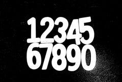 Bakgrund av nummer från noll till nio bakgrundsillustrationen numrerar vektorn Nummertextur Royaltyfri Fotografi