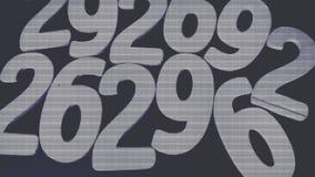 Bakgrund av nummer från noll till nio bakgrundsillustrationen numrerar vektorn Nummertextur Royaltyfri Foto