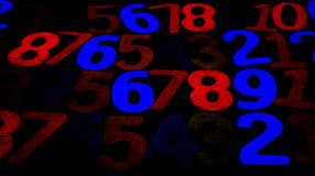 Bakgrund av nummer från noll till nio bakgrundsillustrationen numrerar vektorn Nummertextur Royaltyfria Foton