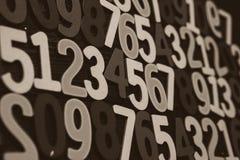 Bakgrund av nummer från noll till nio bakgrundsillustrationen numrerar vektorn Nummertextur Royaltyfri Bild