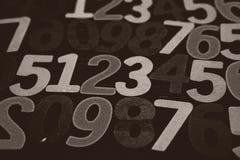 Bakgrund av nummer från noll till nio bakgrundsillustrationen numrerar vektorn Nummertextur Royaltyfria Bilder