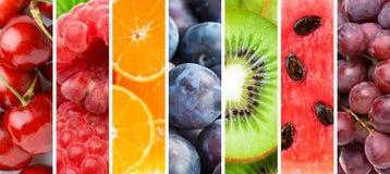 Bakgrund av nya blandade frukter sund mat Samlingsfrukttextur royaltyfria foton