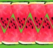 Bakgrund av nya vattenmelonskivor vektor illustrationer