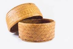 Bakgrund av objekt, ris Kratib det hemslöjd från Thailand arkivbild