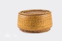 Bakgrund av objekt, ris Kratib det hemslöjd från Thailand royaltyfria foton
