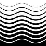 Bakgrund av olika storleksanpassade krökta linjer i svartvit kulör lutning vektor illustrationer