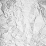 Bakgrund av pappers- skrynklig vit Arkivfoton