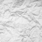 Bakgrund av pappers- skrynklig vit Fotografering för Bildbyråer
